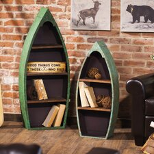 2 Piece Metal And Wood Boat 45 Accent Shelf by Loon Peak