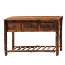 Reclaimed Barnwood Three Drawers Console Table by Fireside Lodge