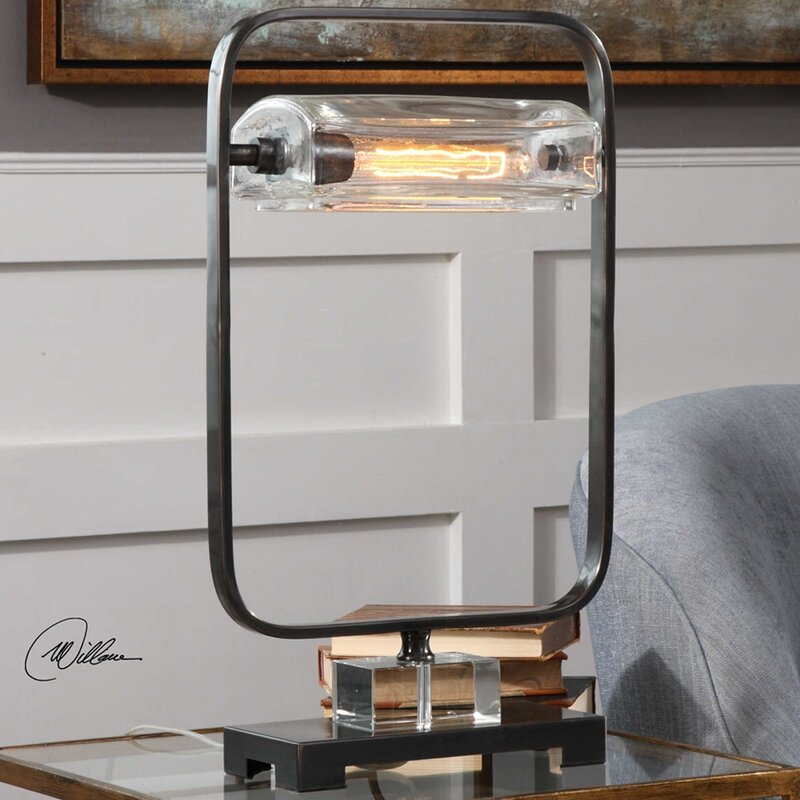 17 stories luiza iron industrial 23 table lamp for Wayfair industrial lamp