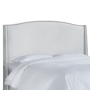 doleman upholstered wingback headboard