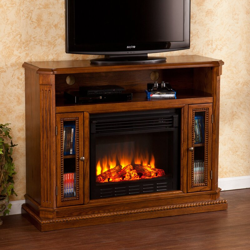 Wildon Home Delaney 47 TV Stand with Fireplace Reviews Wayfair