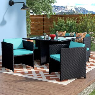 Travers Reverse 9 Piece Outdoor Patio Dining Set with Cushions
