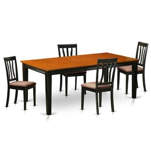 Loraine 5 Piece Extendable Solid Wood Dining Set Red Barrel Studio