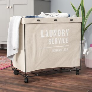 17 Stories Army Canvas Laundry Hamper on Wheel