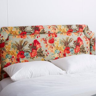 Floral Upholstered Panel Headboard by Skyline Furniture