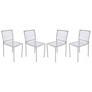 LeisureMod Almeda Side Chair (Set of 4)
