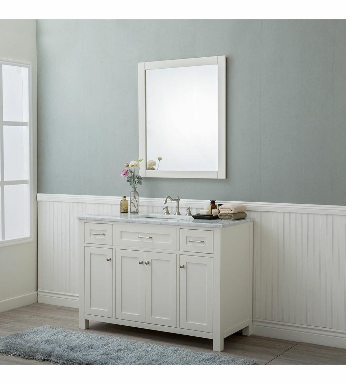 Charlton Home Daughtery 48 Single Bathroom Vanity Set With Mirror Wayfair