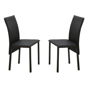 Poundex Bobkona Limbra Parsons Chair (Set of 2)