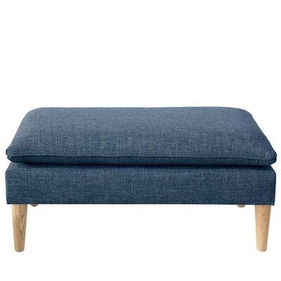 Brayden Studio Santiago Upholstered Bench Color: Zuma Navy