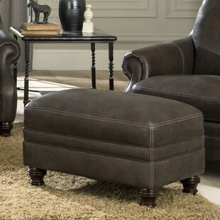 Darby Home Co Shantell Leather Ottoman