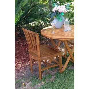 Bauman Teak Patio Dining Side Chair by Darby Home Co