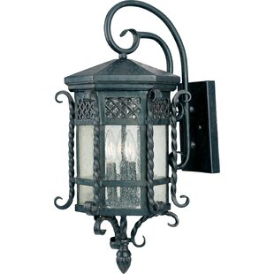 Wildon Home ® Scottsdale 3 Light Outdoor Wall Lantern