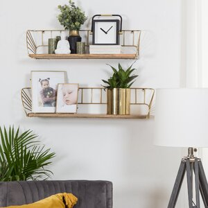 Gold Wall Shelf Bracket