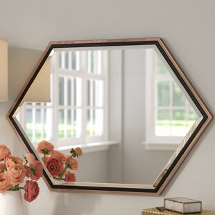 cd57538ea6c3 Contemporary Metal Frame Accent Wall Mirror