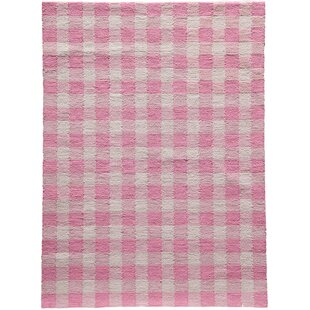 Reviews Violet Hand-Woven Pink Area Rug By August Grove