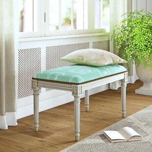 Ainsley Upholstered and Wood Bench