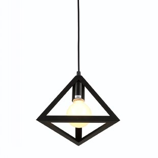 Abbey 1-Light Geometric Pendant by Wrought Studio