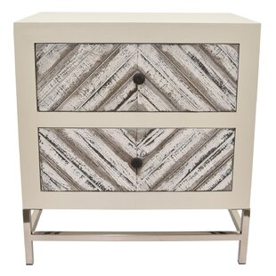 Bungalow Rose Hassinger Wood and Metal 2 Drawer Accent Chest