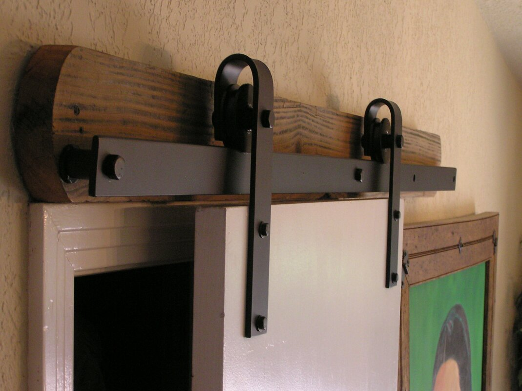 Agave Ironworks Barn Door Rolling Hardware Kit Reviews Wayfair