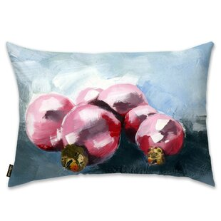 Pink Ornaments Lumbar Pillow