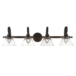 Alcott Hill Herzig 4-Light Glass Vanity Light
