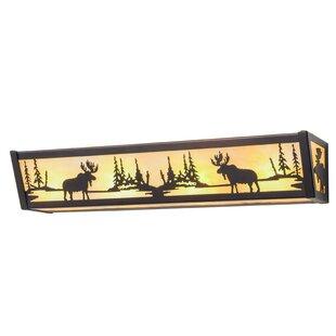 Millwood Pines Everette Moose at Lake 3-Light Bath Bar