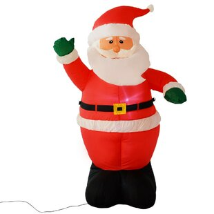 Waving Santa Claus Inflatable Figurine Image