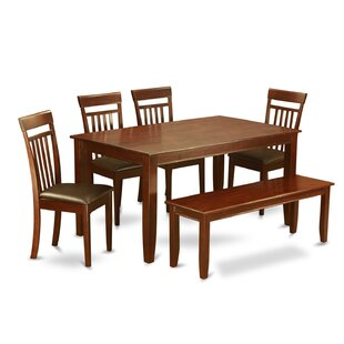 Dudley 6 Piece Dining Set by Wooden Importers Bargain
