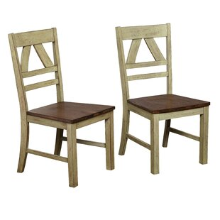 Galena Solid Wood Dining Chair (Set of 2) August Grove