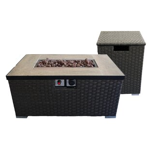 Auburn Polyresin Propane Fire Pit Table by Crawford & Burke