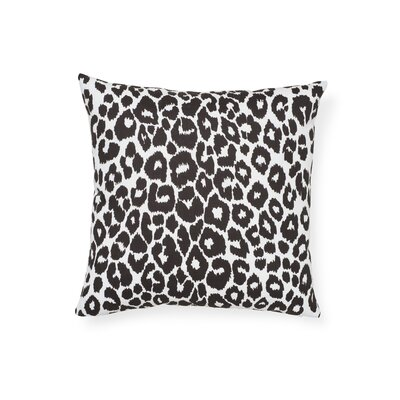 Iconic Leopard Indoor/Outdoor Animal Print Throw Pillow by Schumacher 2020 Sale