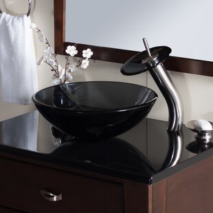 Buying Nera Glass Circular Vessel Bathroom Sink with Faucet By Novatto