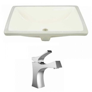 Look for CUPC Ceramic Rectangular Undermount Bathroom Sink with Faucet and Overflow By Royal Purple Bath Kitchen