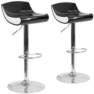 Greensboro Adjustable Height Swivel Bar Stool (Set of 2)