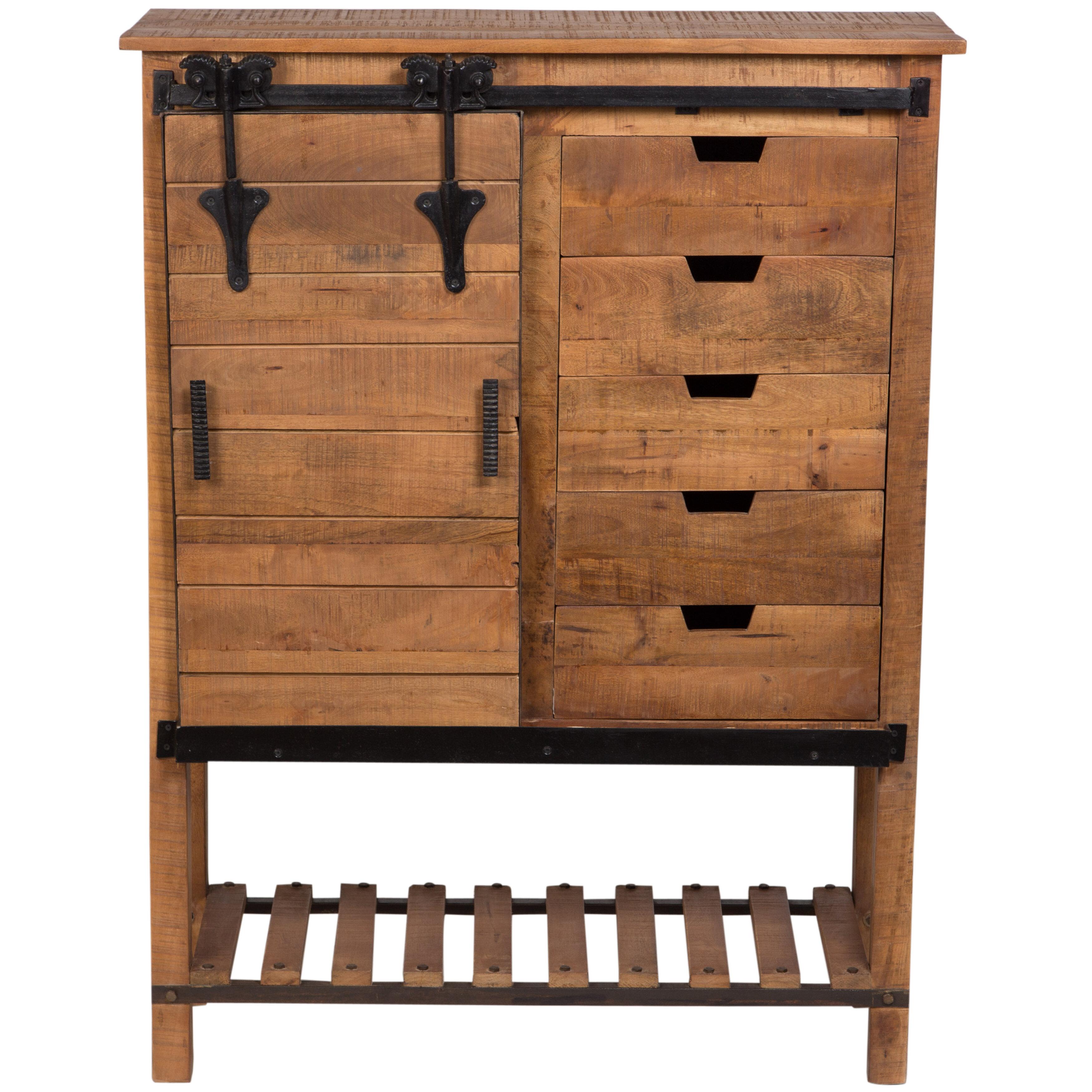 Porter International Designs Barn Door Tall 5 Drawer Accent Cabinet Wayfair