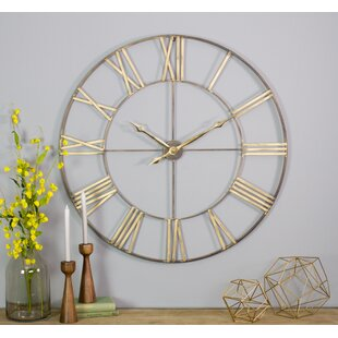 Shopping for Oversized Mosher Round Metal 40 Wall Clock by Gracie Oaks
