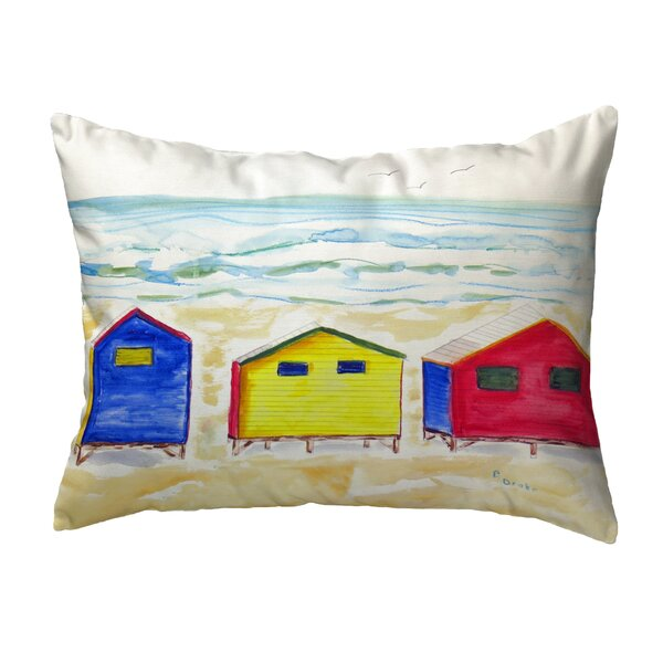Betsy Drake Interiors Beach Bungalows Indoor Outdoor Lumbar Pillow Wayfair