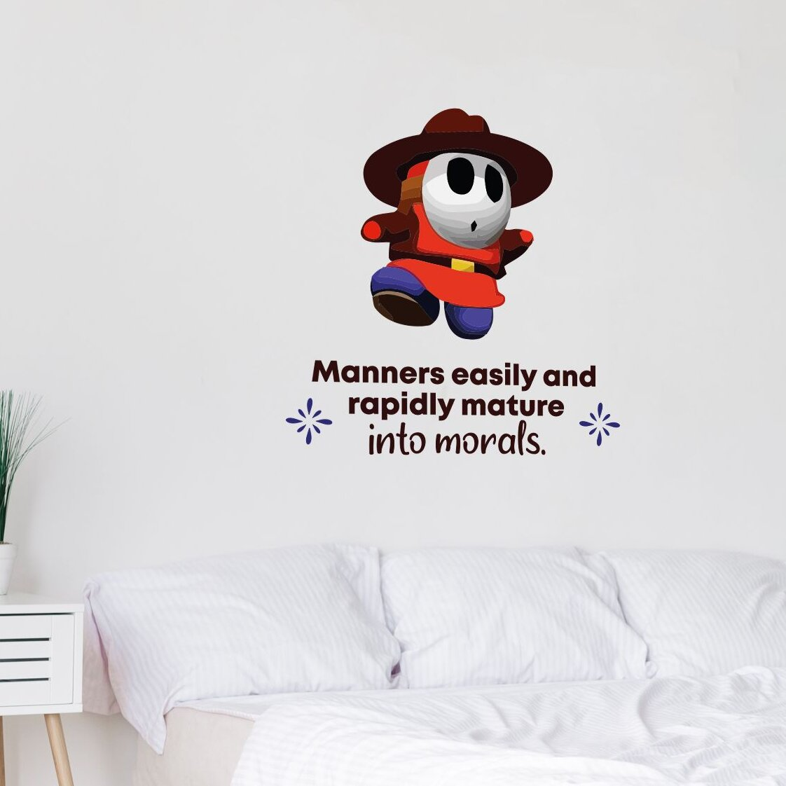 Super Mario Shy guy Decal Autocollant Chambre Vinyle Enfants