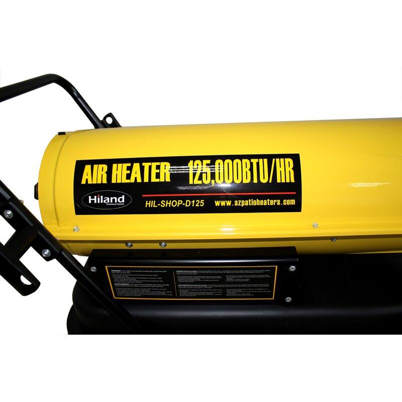 125,000 BTU Diesel Forced Air Utility Heater