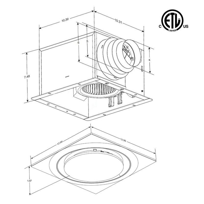 Broan Bath Vent Replacement Lens