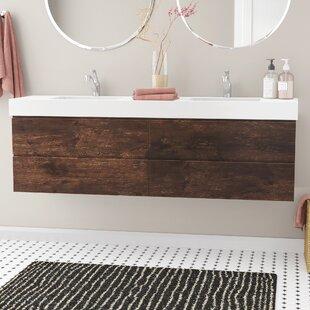 Sinope 71 Wall-Mounted Double Bathroom Vanity Set by Orren Ellis