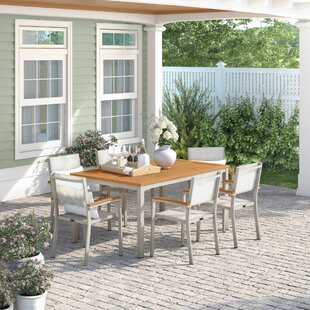 Caspian 7 Piece Dining Set with Stackable Chairs by Sol 72 Outdoor