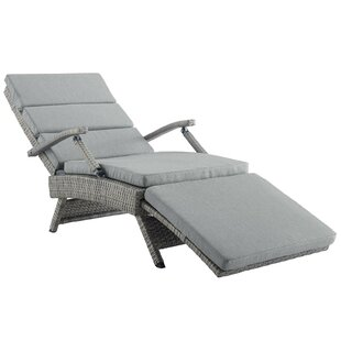 Levick Reclining Chaise Lounge with Cushion