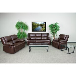 Harben Reclining 3 Piece Living Room Set by Red Barrel Studio