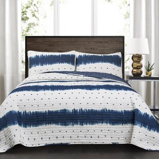 Emelia Cotton 3 Piece Reversible Quilt Set