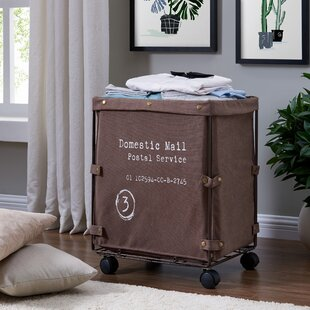 Williston Forge Collapsible Laundry / Clothing Hamper with Wheels