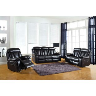 Price comparison Trower Reclining  3 Piece Living Room Set by Red Barrel Studio Reviews (2019) & Buyer's Guide