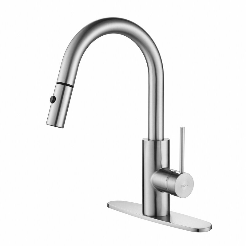 Oletto Pull Down Single Handle Kitchen Faucet