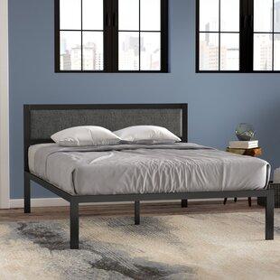 Del Wood Slat Support Platform Bed Frame