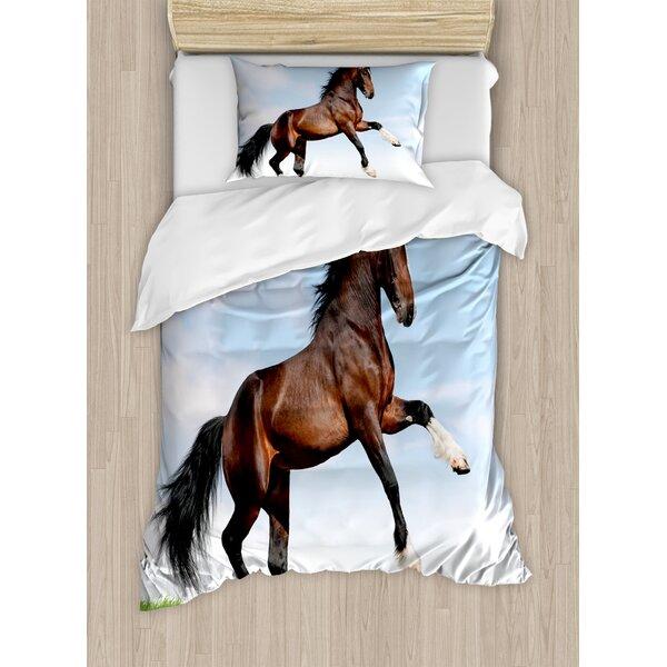 East Urban Home Horses Duvet Cover Set Wayfair